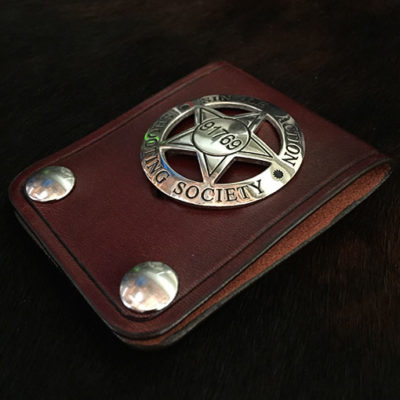 Cowboy leather badge holder great for SASS Single Action Shooters Society