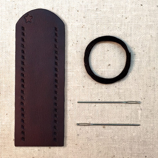 Bison brown leather lever wrap with baseball stitch