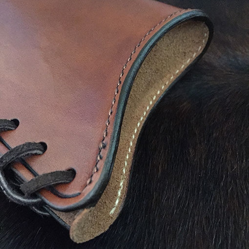 Cowboy leather stock cover